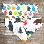 Reversible Squirrels and Fall forest animals Bandana