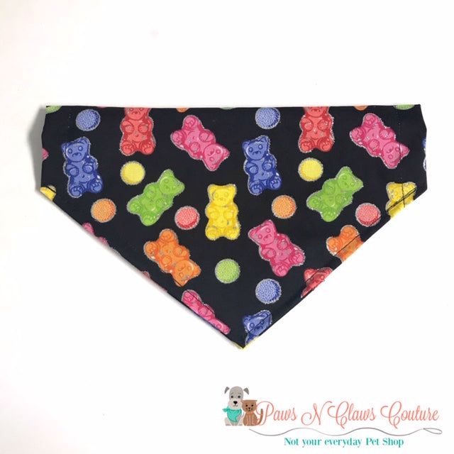Glitter Lined Gummy Bears Bandana - Paws N Claws Couture