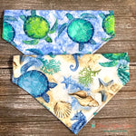 Reversible Sea turtle and Sea horse Bandana