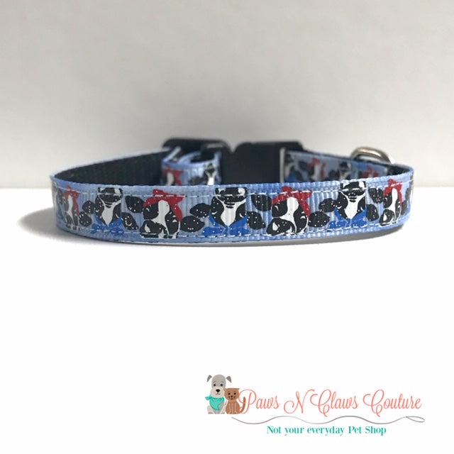 "3/8"" Cows Cat or Small Dog Collar"