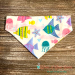 Pastel Tropical Fish Bandana - Paws N Claws Couture