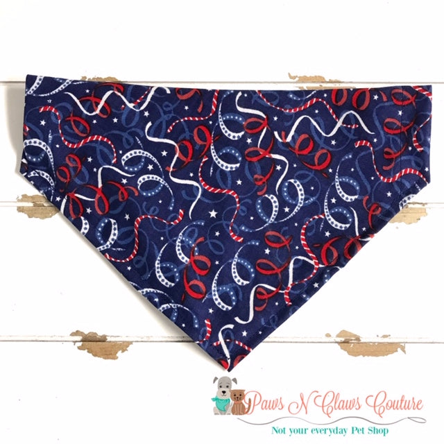 4th of July Confetti Bandana - Paws N Claws Couture