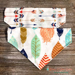 Reversible Feathers and Arrows Bandana