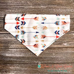 Reversible Feathers and Arrows Bandana - Paws N Claws Couture