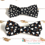 Skulls or Ghosts Bow Ties - Paws N Claws Couture