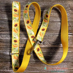 "1"" Sunflowers Martingale Dog Collar, Leash Available - Paws N Claws Couture"