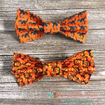 Black Cats or Pumpkins Bow Ties - Paws N Claws Couture