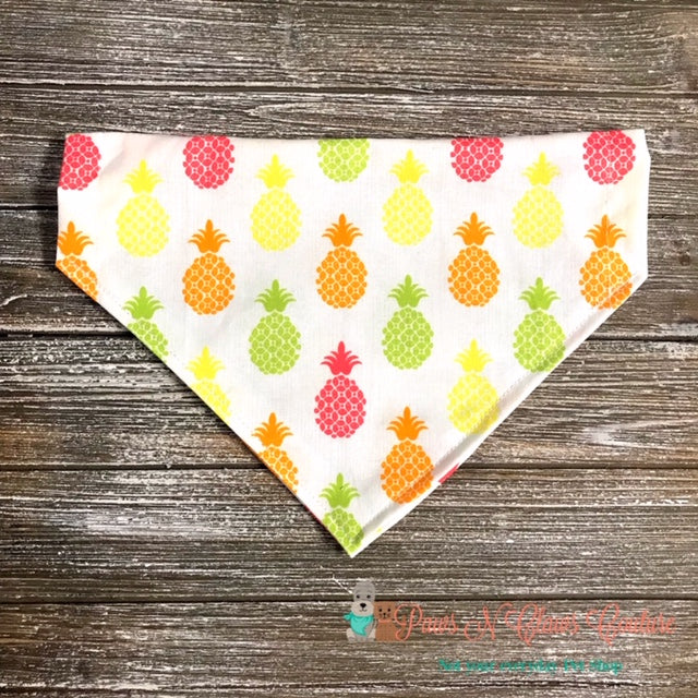 Neon Pineapples Bandana - Paws N Claws Couture