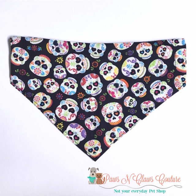 Sugar Skulls Bandana - Paws N Claws Couture