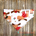 Christmas Party Moose Bandana