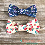 Dragonflies or Cherries Bow Ties - Paws N Claws Couture