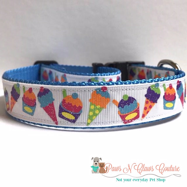 "1"" Neon Ice Cream Cup Dog Collar"