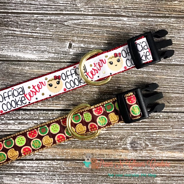 "1"" Cookies or Cookie Tester Dog Collar - Paws N Claws Couture"