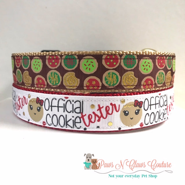"1"" Cookies or Cookie Tester Dog Collar"