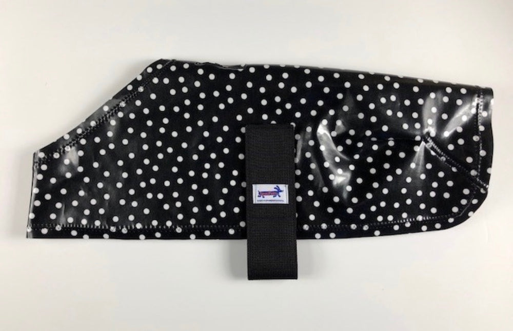 Black and White Dot Raincoat