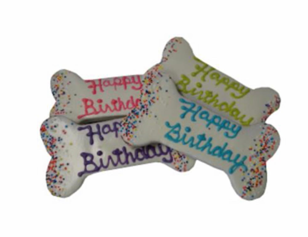 Happy Birthday Bones Dog Treats - Paws N Claws Couture