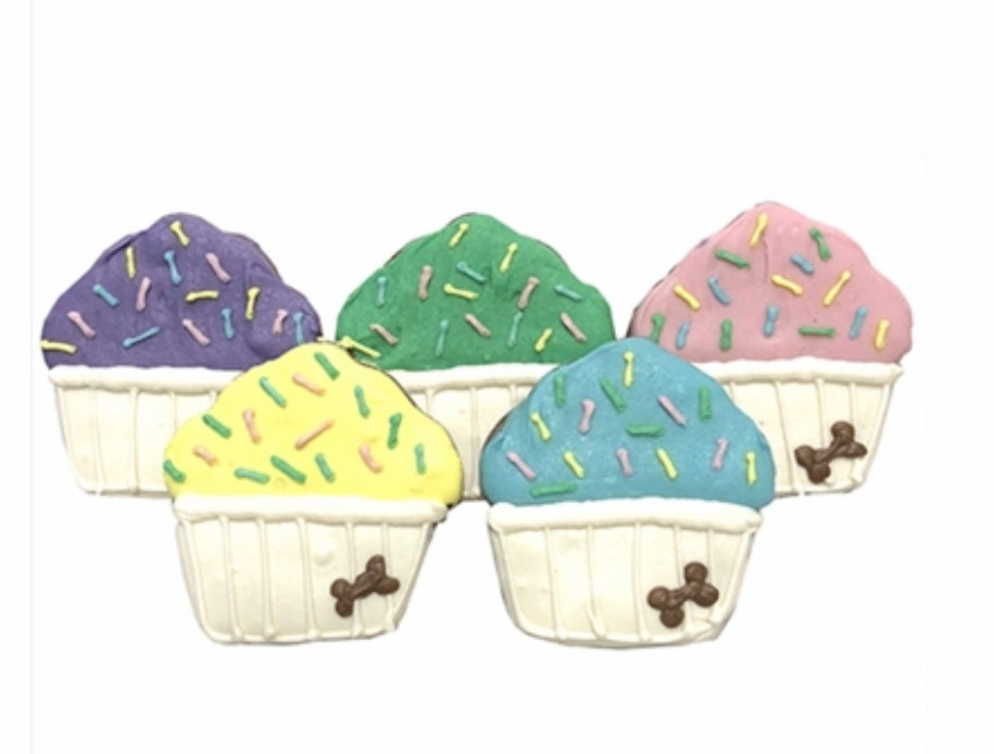 Party Cupcake Dog Cookies