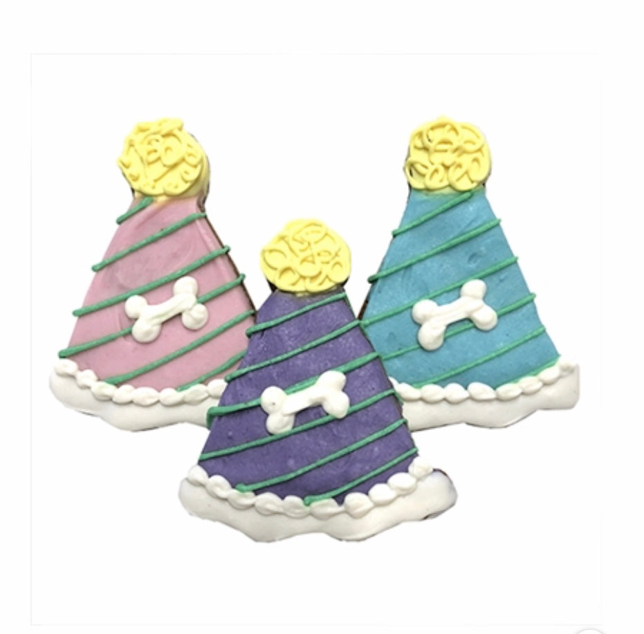 Party Hat Dog Cookies - Paws N Claws Couture