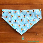 Bees on Blue Bandana - Paws N Claws Couture
