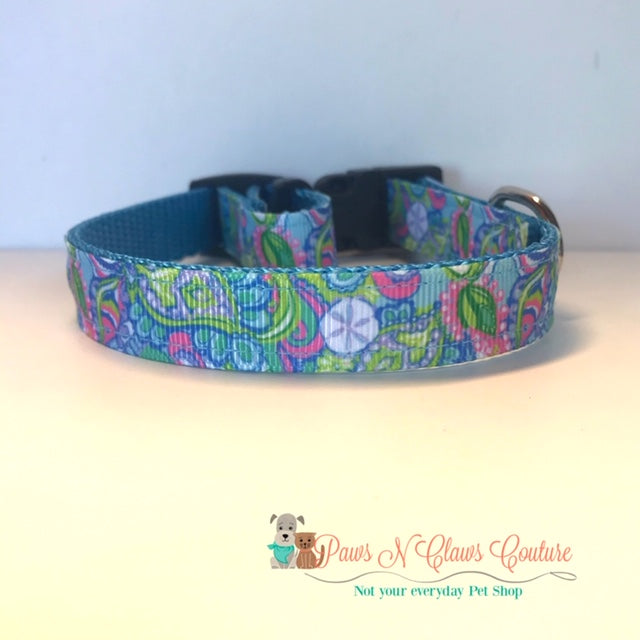 "5/8"" Conch Lily Inspired Dog Collar"