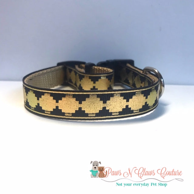 "5/8"" Aztec Dog Collar - Paws N Claws Couture"