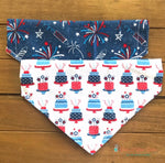 Reversible America's Birthday Bandana - Paws N Claws Couture
