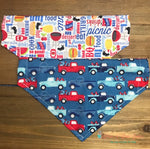 Reversible Summer BBQ and Trucks Bandana - Paws N Claws Couture