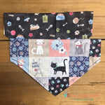 Reversible Favorite Cat Bandana - Paws N Claws Couture