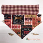 Reversible Plaid and BBQ Bandana - Paws N Claws Couture