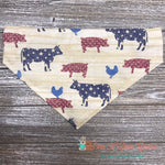 Patriotic Farm Animals Bandana - Paws N Claws Couture