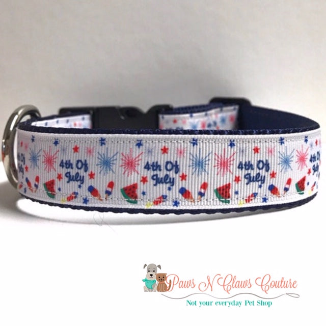 "1"" 4th of July Dog Collar - Paws N Claws Couture"