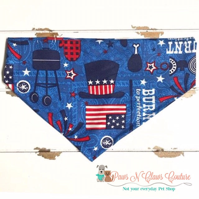 4th of July BBQ Bandana - Paws N Claws Couture