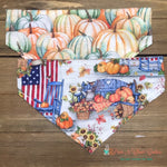 Reversible Fall Porch Bandana - Paws N Claws Couture