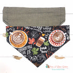 Favorite Fall Things Scarf or Reversible Bandana - Paws N Claws Couture