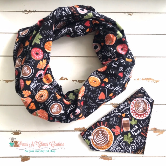 Favorite Fall Things Scarf or Reversible Bandana