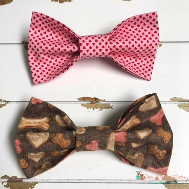 Valentine's Bow Ties - Paws N Claws Couture