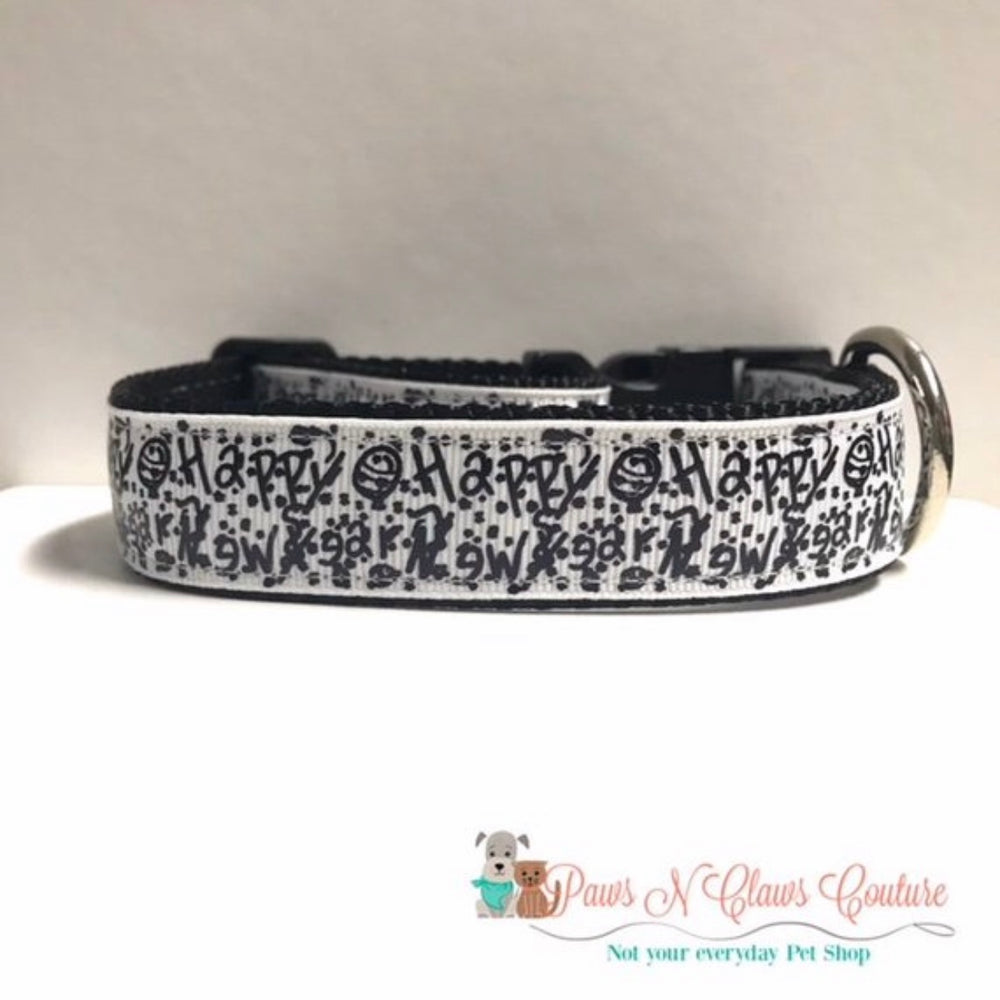 "1"" Confetti or Little Miss New Year Dog Collar - Paws N Claws Couture"