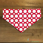 Red with White Dots Infinity Scarf or Bandana - Paws N Claws Couture