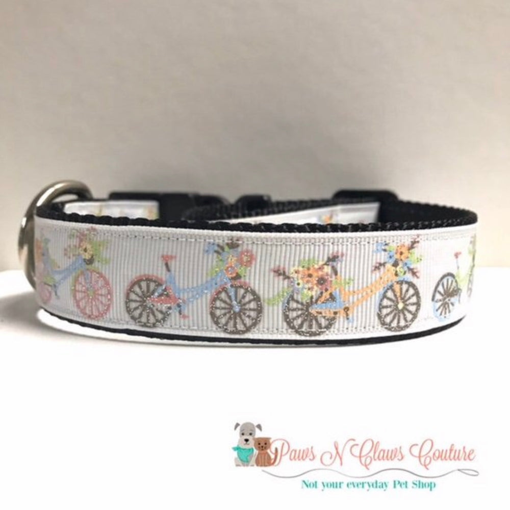 "1"" Bike ride or Sugar made me do it Dog Collar - Paws N Claws Couture"