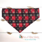 Red & Plaid Glitter Snowflake Bandana