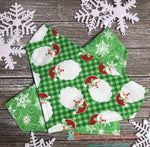 Reversible Santa & Snowflakes on Green Bandana