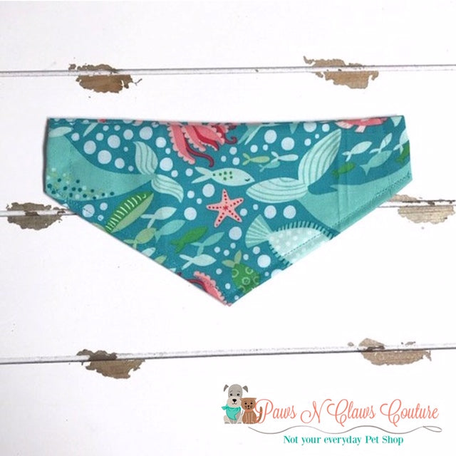 Ocean Life Bandana - Paws N Claws Couture