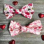 Valentine Hearts Bow Ties - Paws N Claws Couture