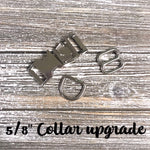 "5/8"" Collar Upgrades - Paws N Claws Couture"