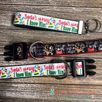 "1"" Santa I know him or Guide my Sleigh Dog Collar - Paws N Claws Couture"