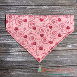 Scribble Hearts & Swirls Bandana - Paws N Claws Couture