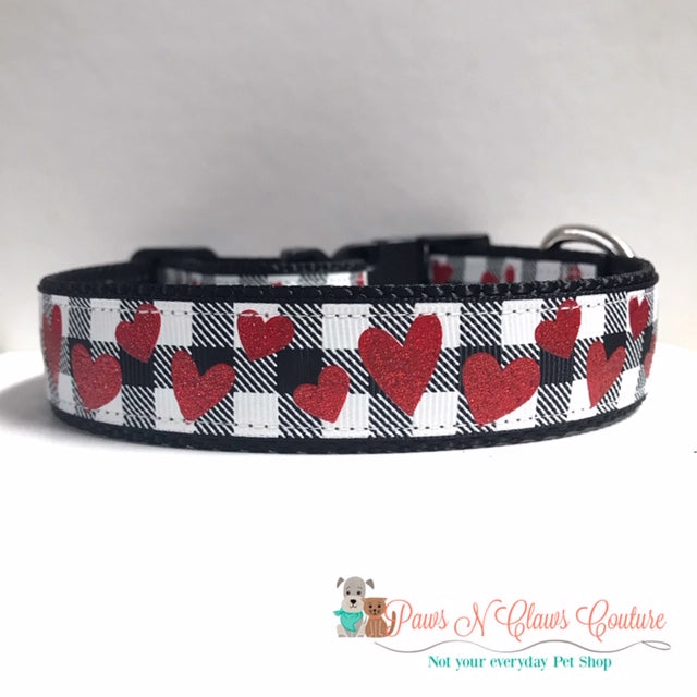 "1"" Koala Bears or Plaid and hearts Dog Collar - Paws N Claws Couture"