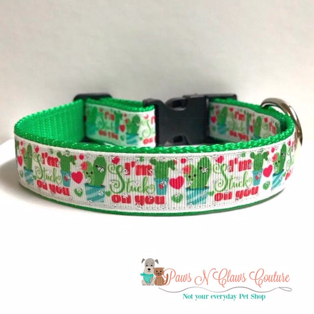 "1"" Im Stuck on You Dog Collar - Paws N Claws Couture"