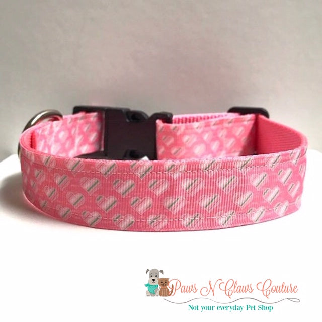 "1"" Mini Hearts Dog Collar - Paws N Claws Couture"