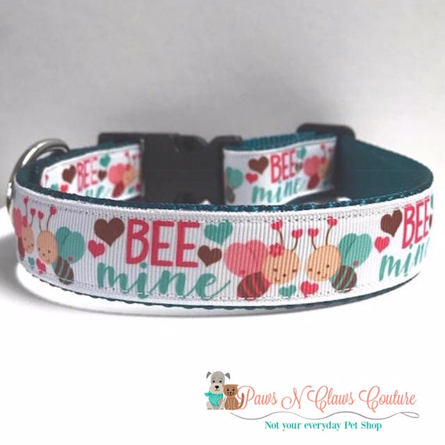 "1"" Bee Mine Dog Collar - Paws N Claws Couture"